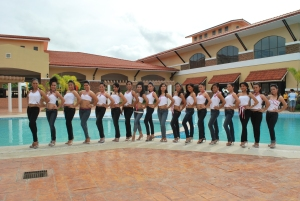 Candidates of CCF Queen Search 2009 during their pictorial at Parc Regency, Pavia, Iloilo